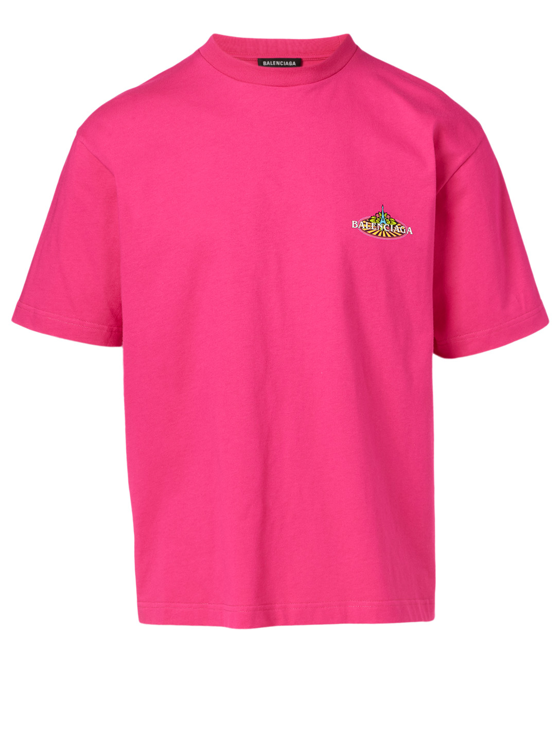 BALENCIAGA Bonjour Cotton T-Shirt Men's Pink