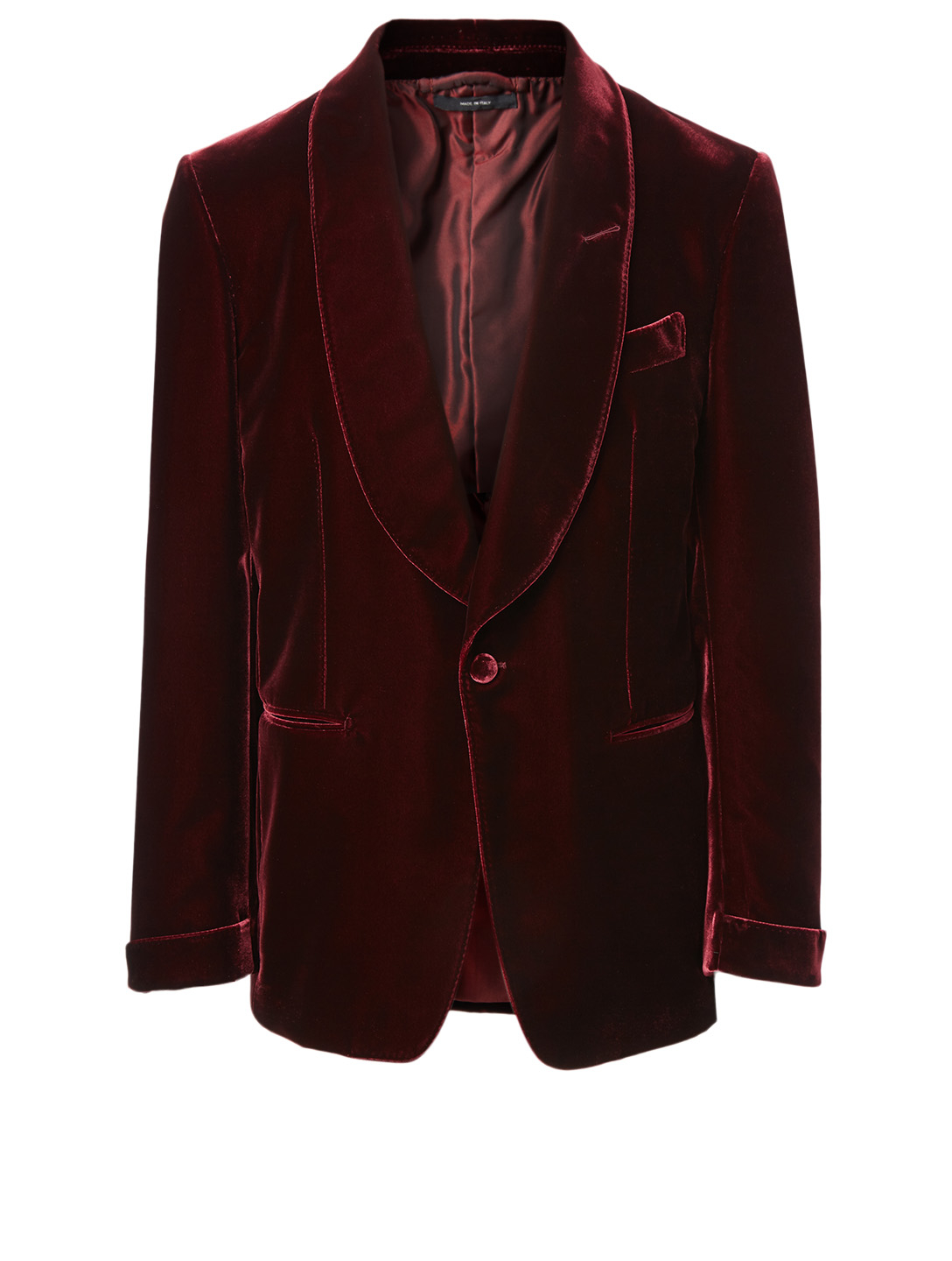 TOM FORD Shelton Velvet Evening Jacket Men's Red