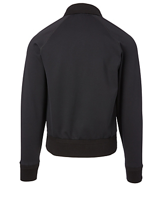 TOM FORD Cotton-Blend Zip Sweater Men's Black