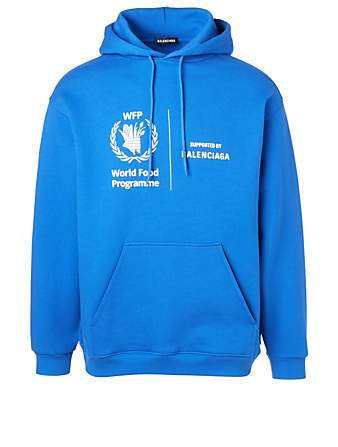 BALENCIAGA World Food Programme Cotton Hoodie Men's Blue
