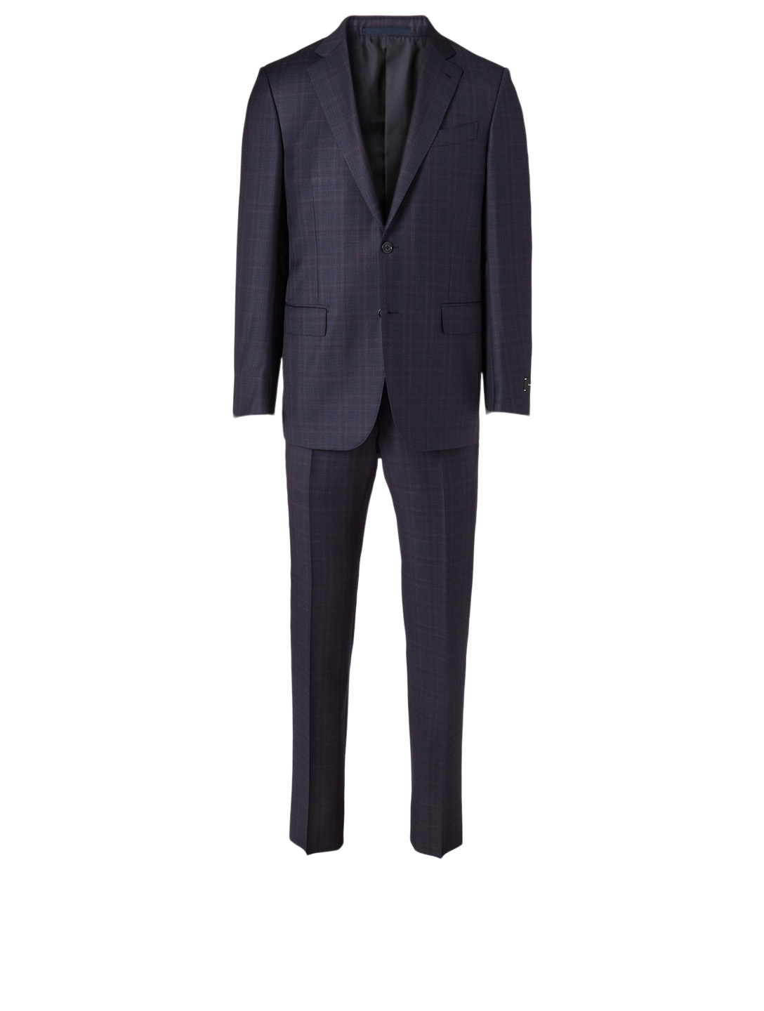 ERMENEGILDO ZEGNA Wool Two-Piece Suit In Check Print Men's Blue