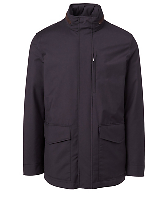 ERMENEGILDO ZEGNA Wool Field Jacket Men's Blue