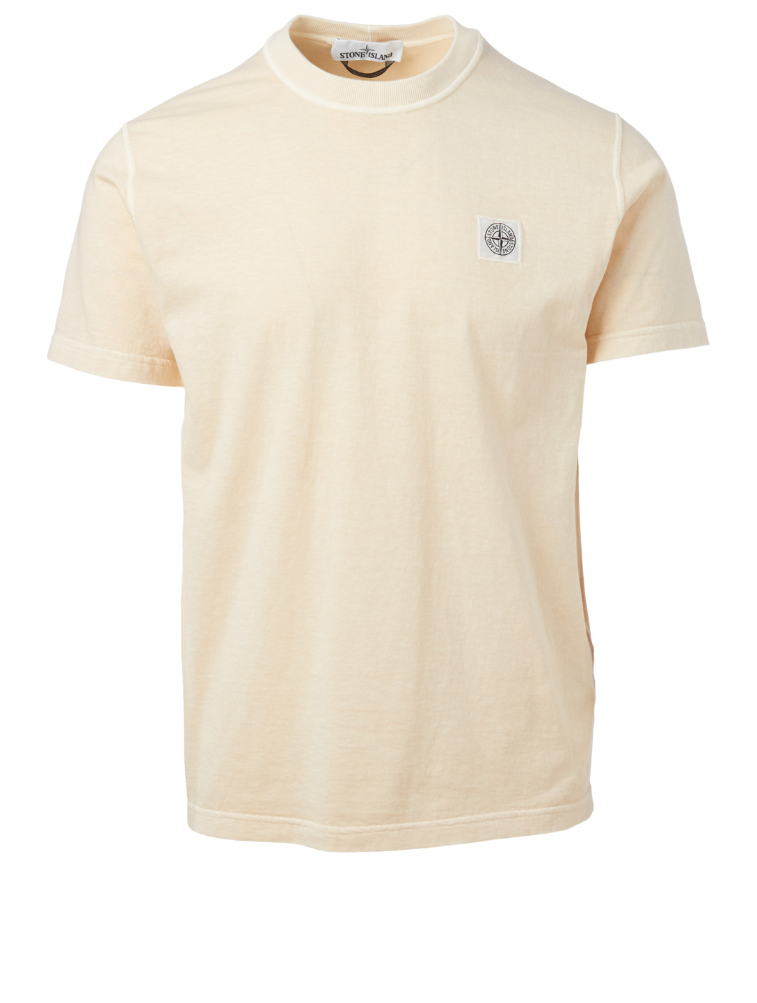 STONE ISLAND Cotton T-Shirt With Logo Patch Men's Beige