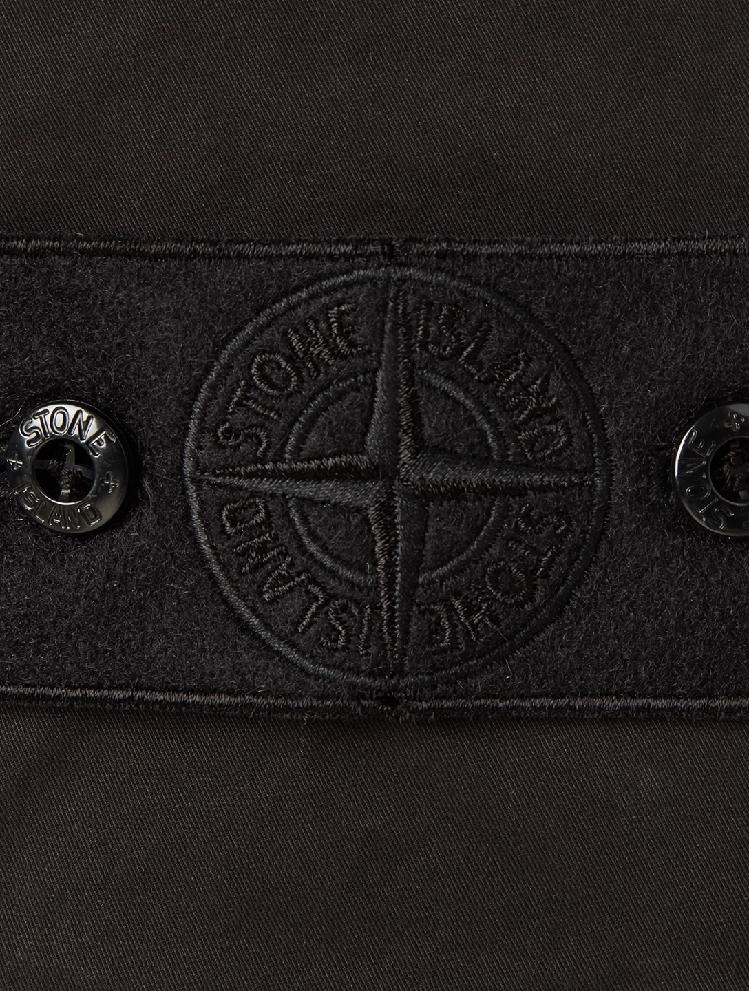STONE ISLAND Ghost Cargo Pants Men's Black