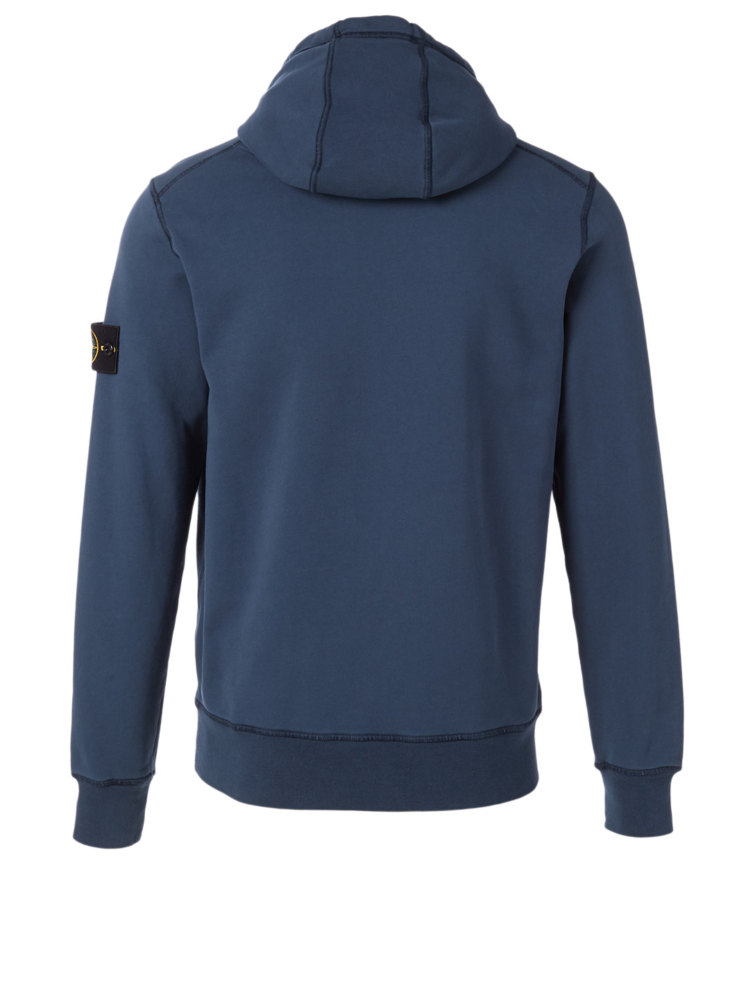 STONE ISLAND Cotton Hoodie Men's Blue