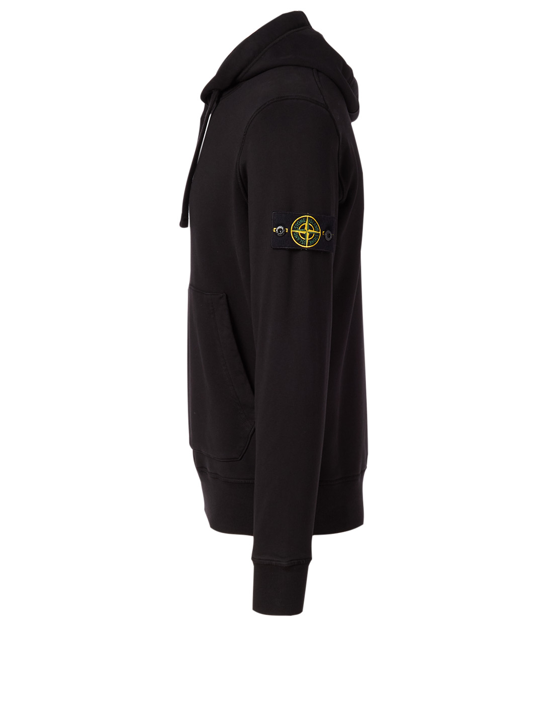 STONE ISLAND Cotton Hoodie Men's Black