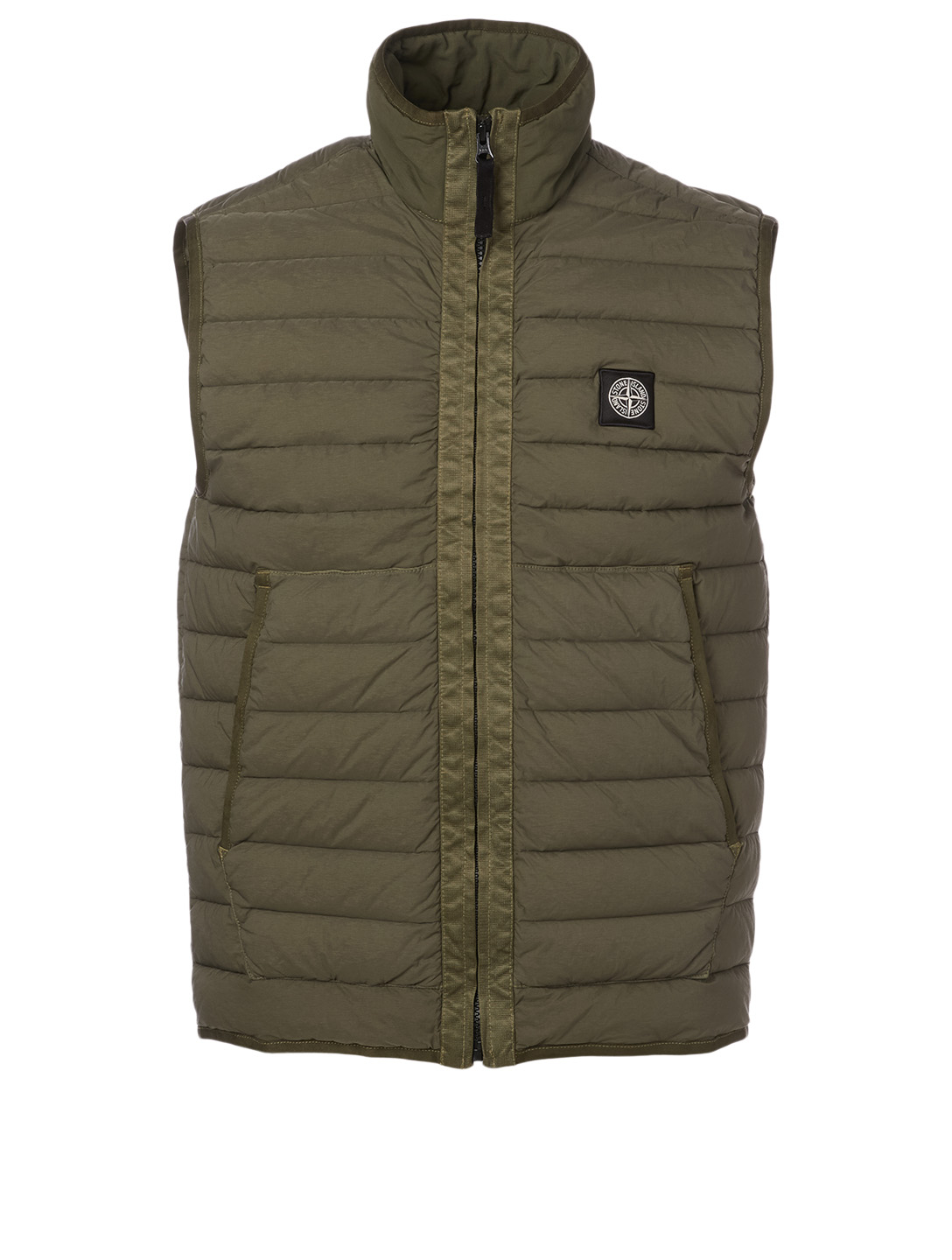 STONE ISLAND Nylon Zip Vest Men's Green
