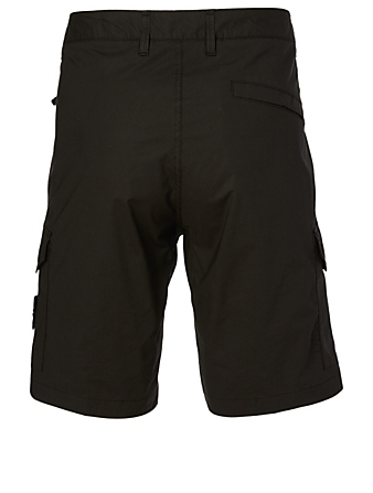 STONE ISLAND Cotton Cargo Shorts Men's Black
