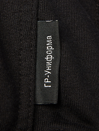 GOSHA RUBCHINSKIY Melton Zip Hoodie Men's Black
