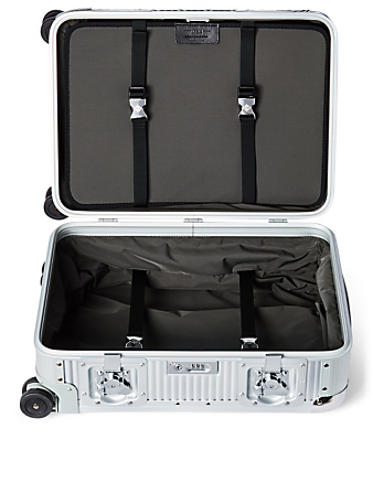 FPM Bank S Spinner 55 Aluminum Carry-On Suitcase Luggage Metallic