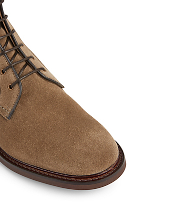 CHURCH'S Bowers Suede Lace-Up Ankle Boots Men's Grey