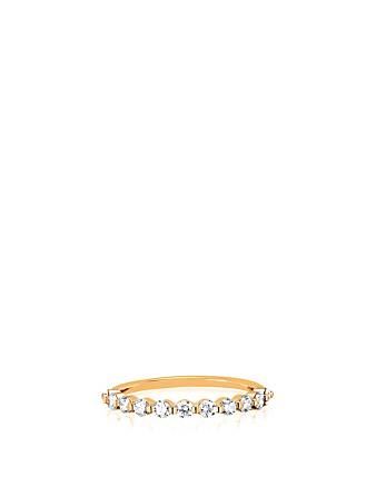 EF COLLECTION Bague en or 14 ct avec diamants Femmes Métallique