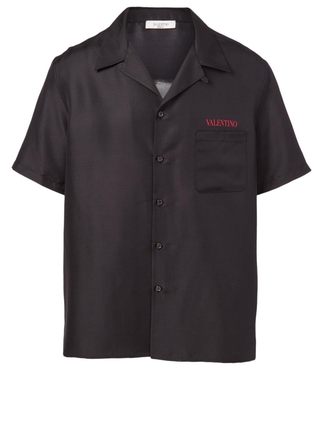 VALENTINO Moon Dust Silk Shirt Men's Black