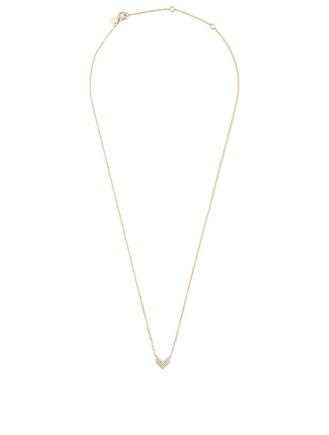 EF COLLECTION 14K Gold Shield Necklace With Diamonds Women's Metallic