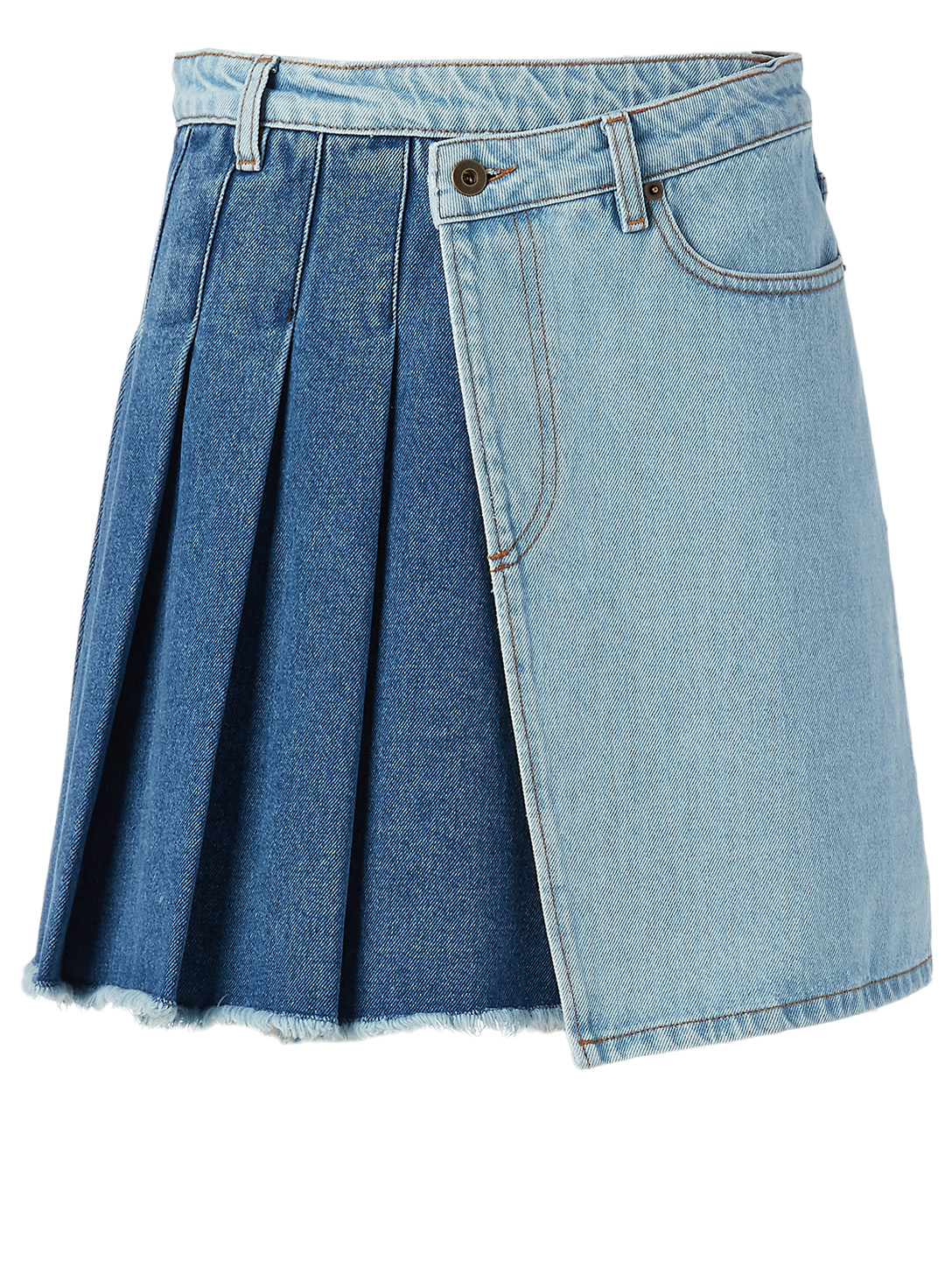 MCQ ALEXANDER MCQUEEN Maru Asymmetric Denim Skirt Women's Blue