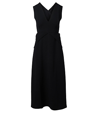 VICTORIA BECKHAM Cross-Back Midi Dress Women's Black