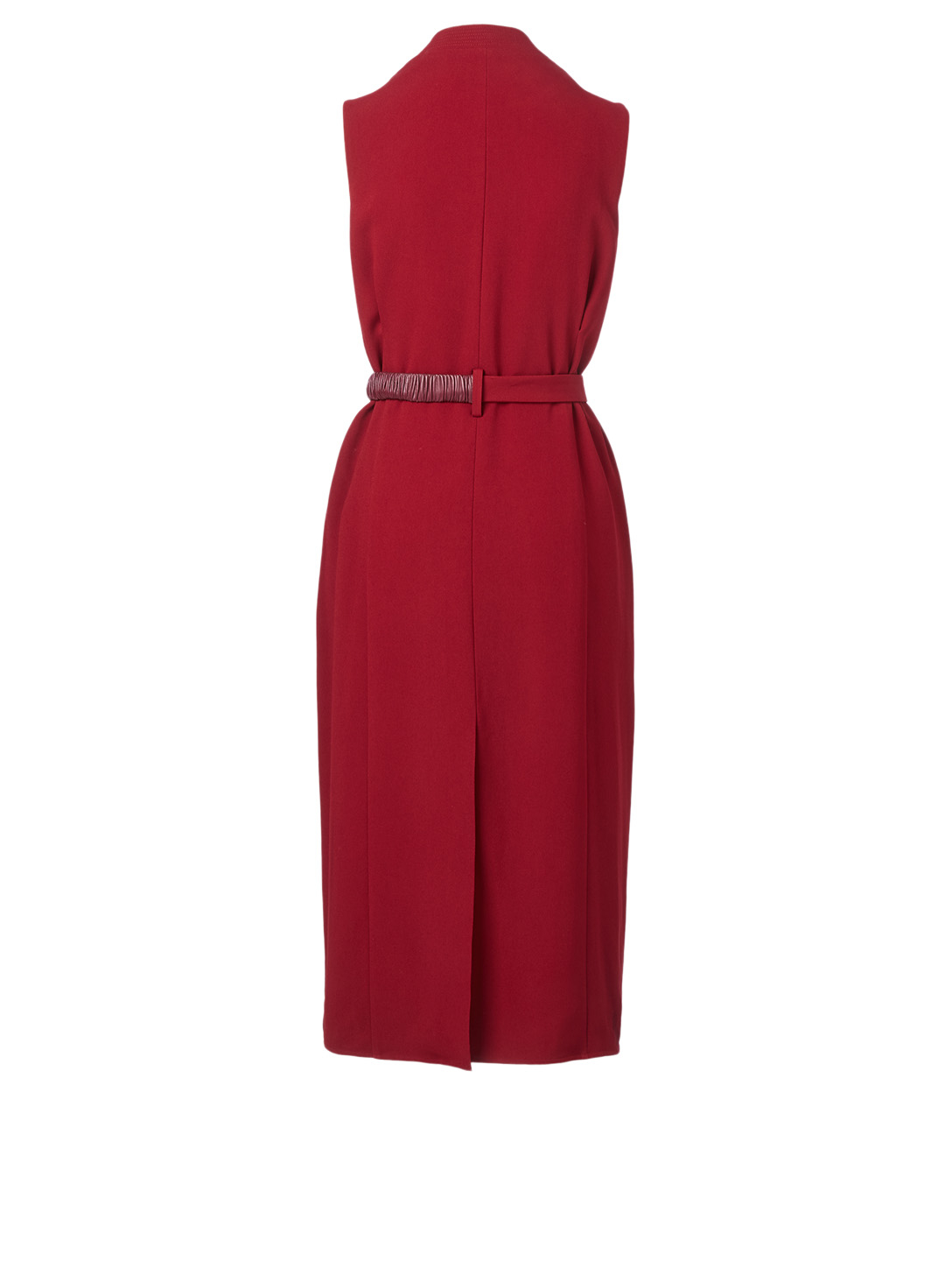 VICTORIA BECKHAM Wrap Midi Dress With Belt Women's Red