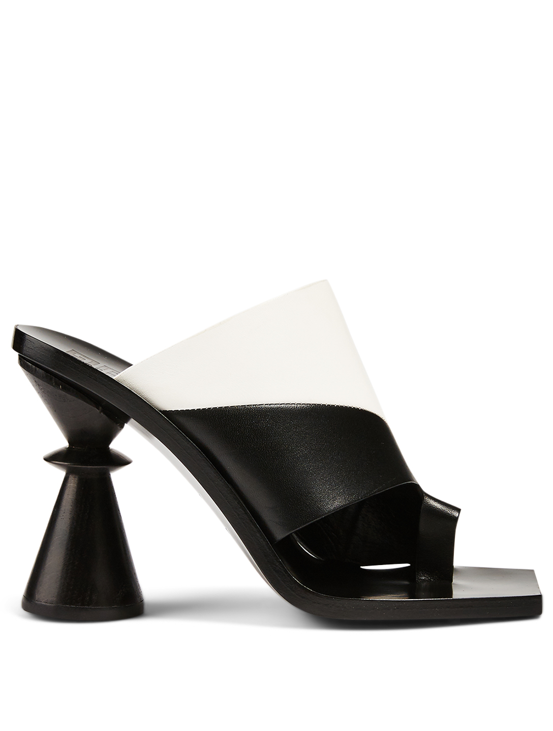 GIVENCHY Joker Bicolour Leather Heeled Mule Sandals Women's Black