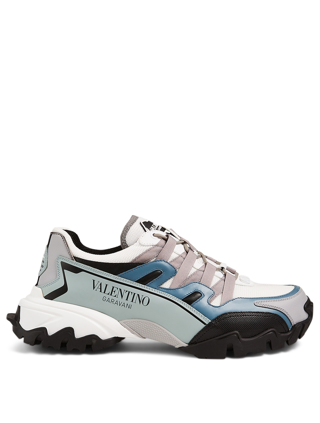 VALENTINO GARAVANI Climber Leather and Fabric Sneakers Men's Grey