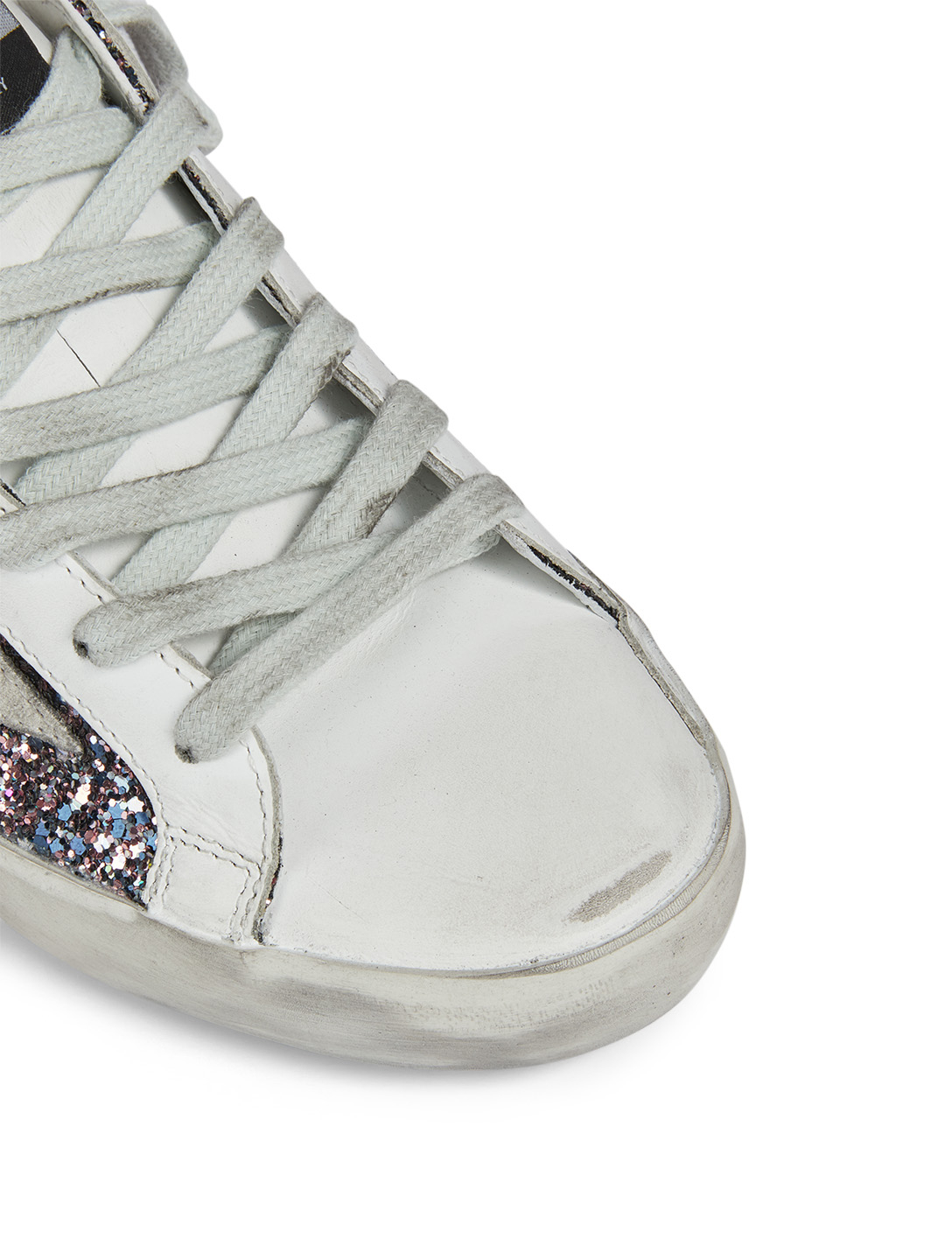 GOLDEN GOOSE Superstar Glitter Sneakers Women's Grey