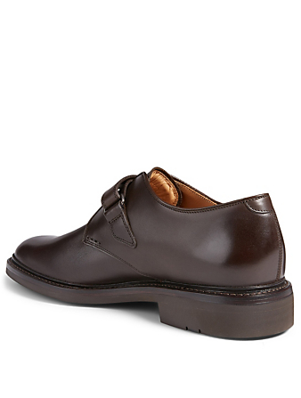 HESCHUNG Bouleau Leather Monk-Strap Shoes Men's Brown