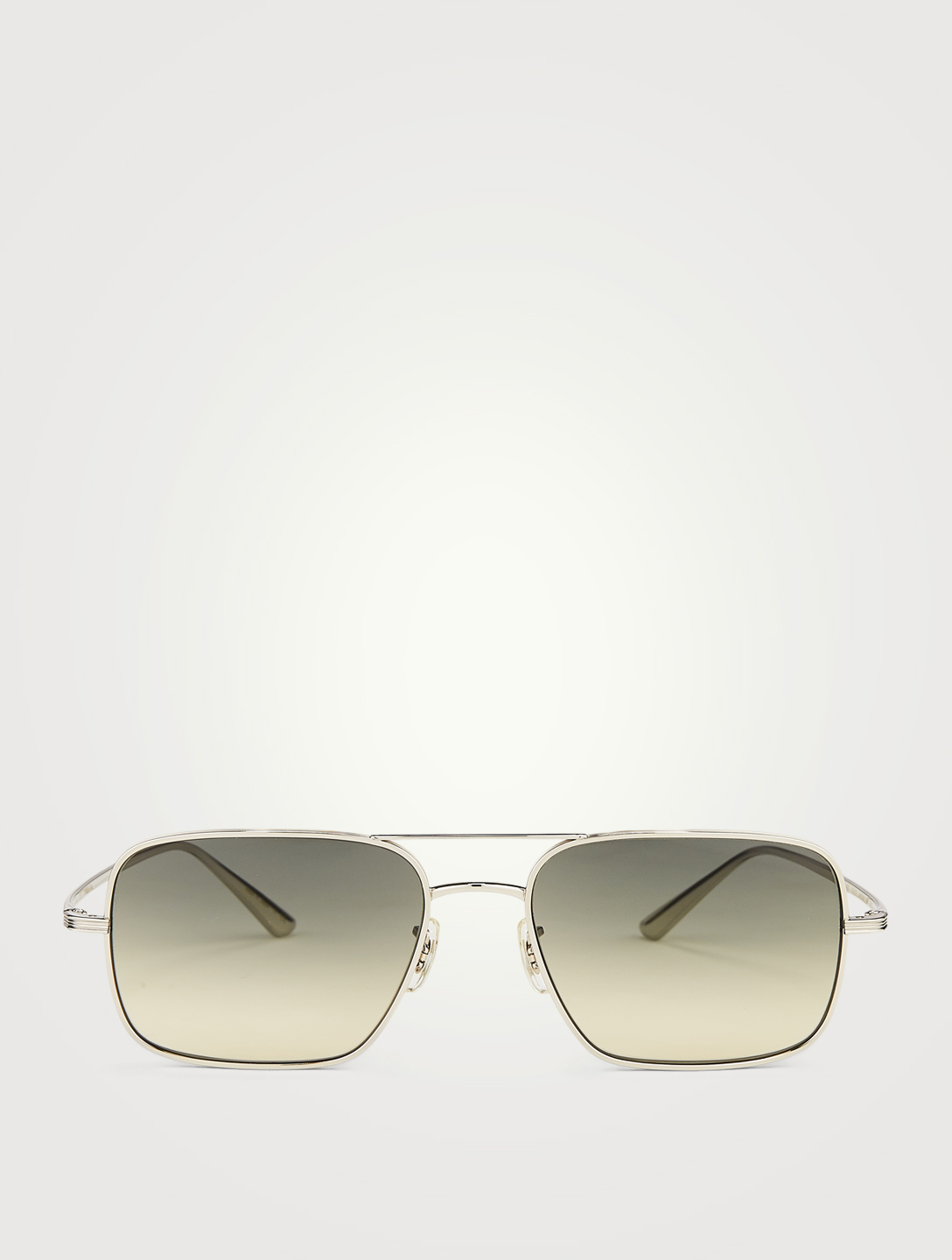 OLIVER PEOPLES Victory Aviator Sunglasses Men's Metallic