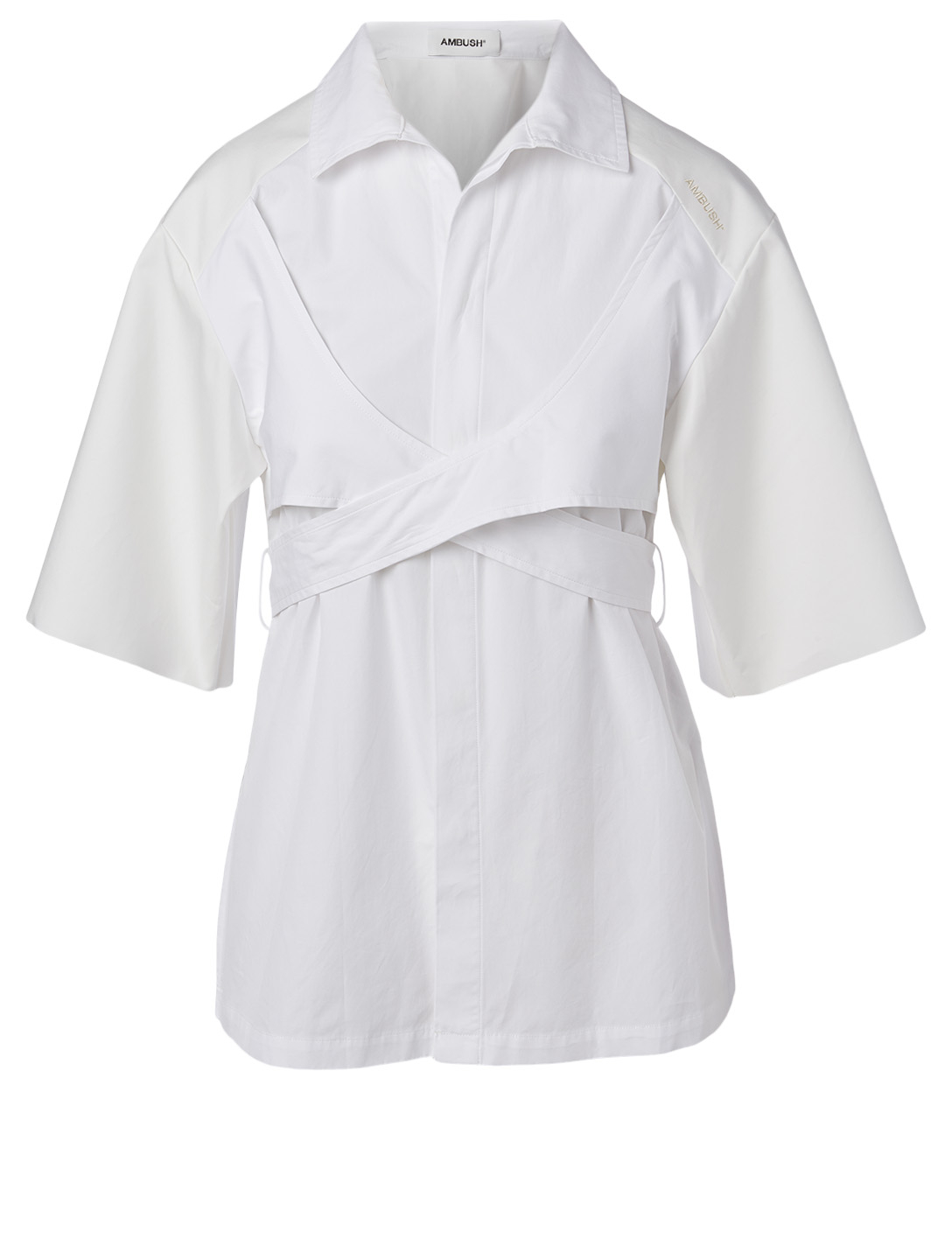 AMBUSH Cotton Wrap Tie Shirt Women's White