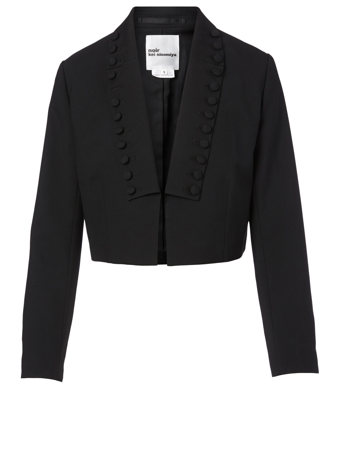NOIR KEI NINOMIYA Wool Cropped Blazer Women's Black