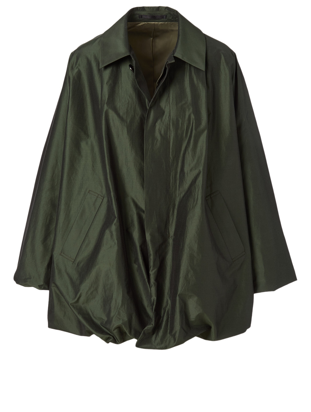 NOIR KEI NINOMIYA Cotton And Silk Taffeta Coat Women's Green