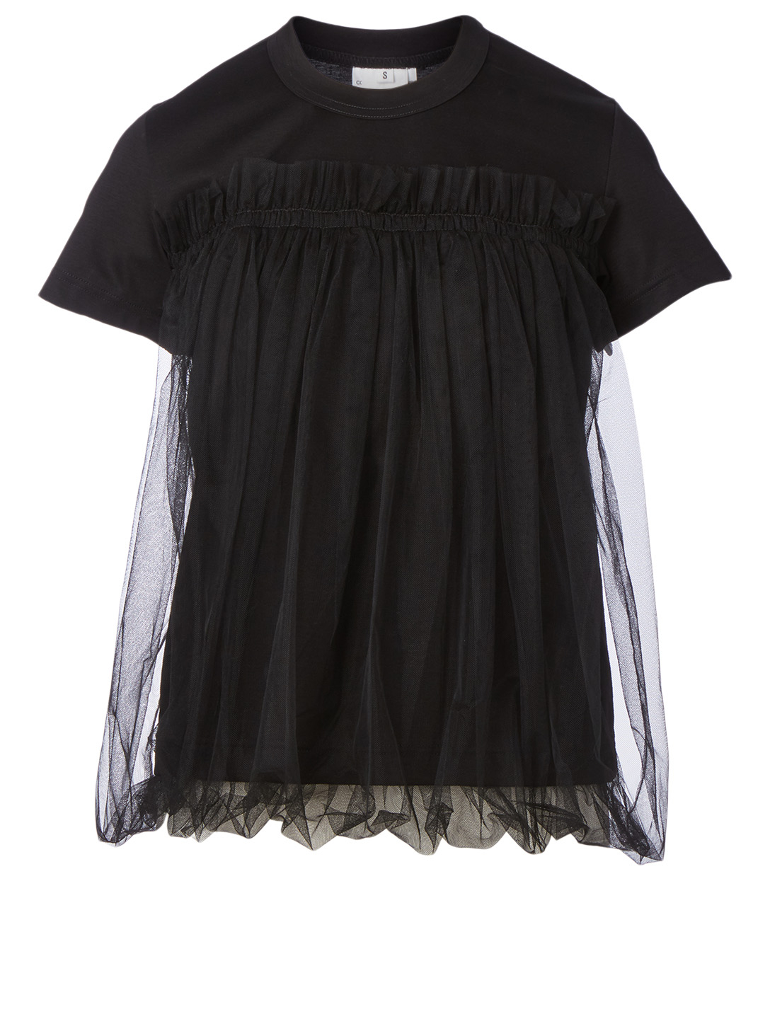NOIR KEI NINOMIYA Cotton T-Shirt With Tulle Women's Black