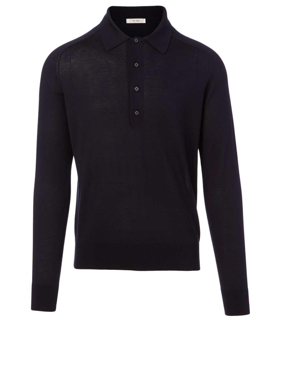 THE ROW Dylan Silk And Cotton Polo Shirt Men's Blue