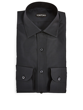 TOM FORD Cotton And Silk Shirt Men's Black