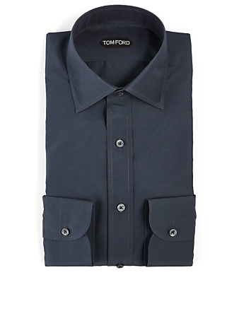 TOM FORD Cotton And Silk Shirt Men's Blue