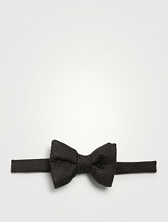 TOM FORD Silk Bow Tie In Tonal Dot Print Men's Black