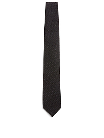 TOM FORD Silk Tie In Geometric Print Men's Black