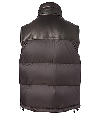 TOM FORD Nylon And Leather Down Vest Men's Black