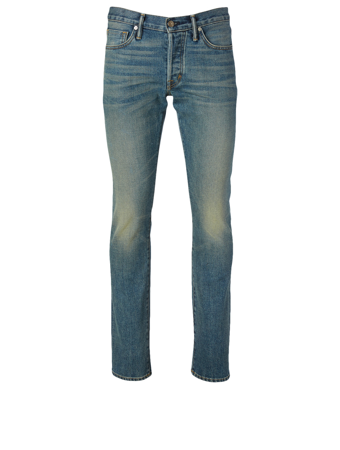 TOM FORD Cotton Stretch Slim-Fit Jeans Men's Blue