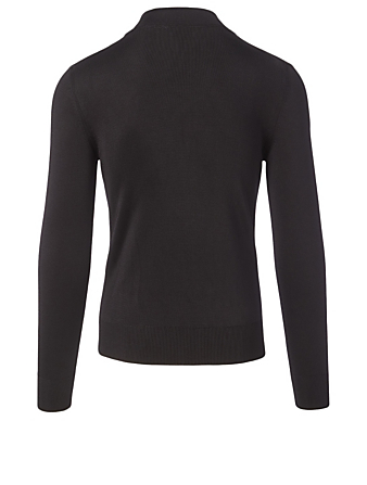 TOM FORD Silk Ribbed Turtleneck Men's Black