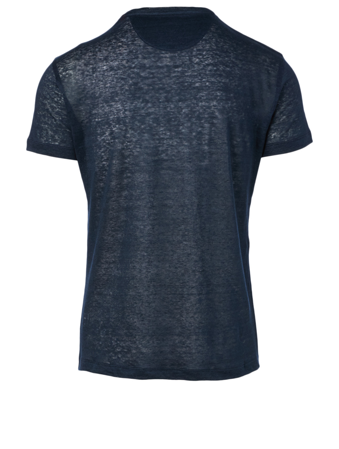 ISAIA Linen Crewneck T-Shirt Men's Blue
