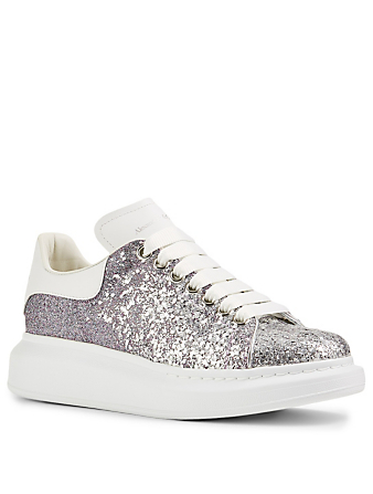 ALEXANDER MCQUEEN Oversized Glitter Degrade Sneakers Women's Metallic