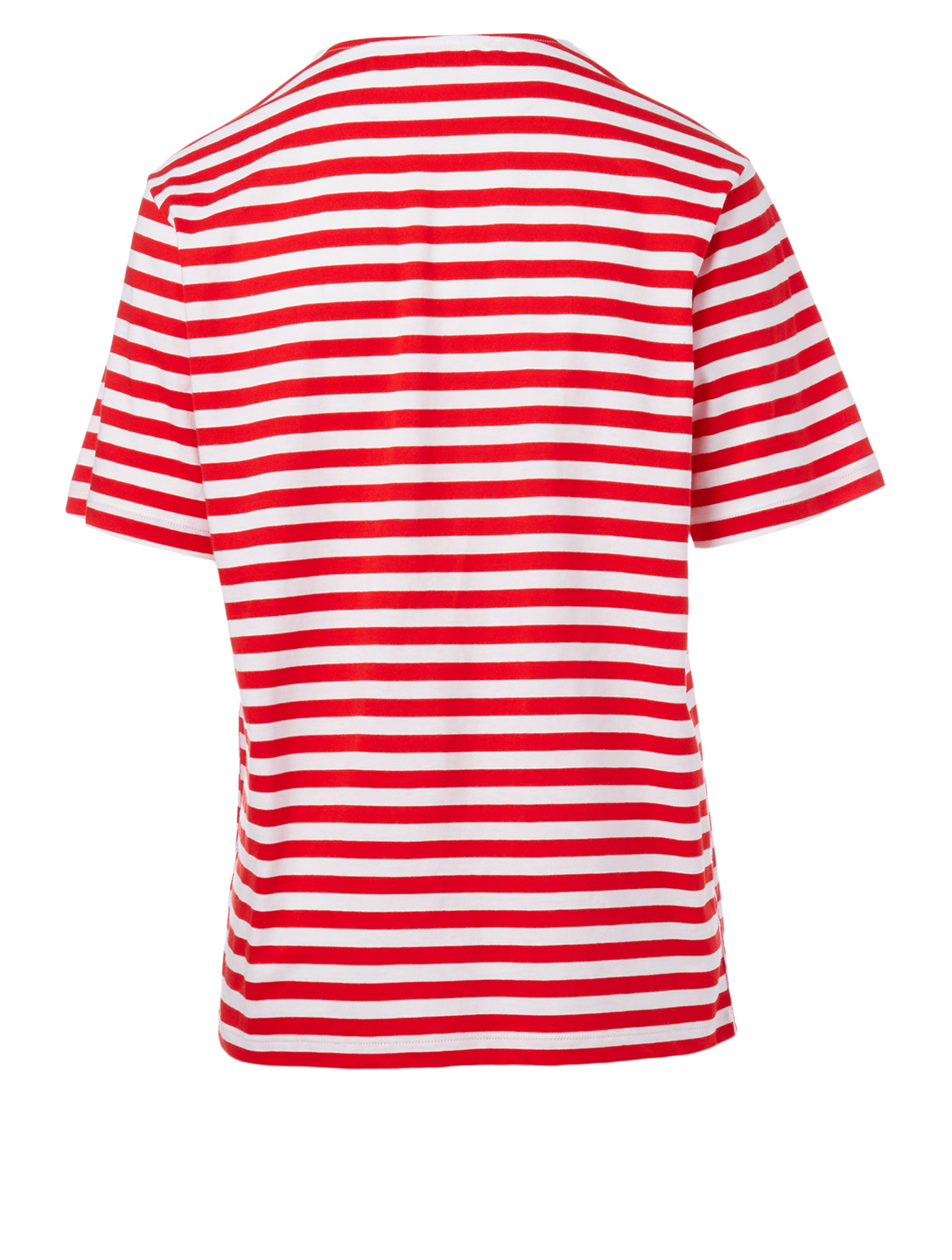 VICTORIA VICTORIA BECKHAM Cotton T-Shirt With Logo Stripe Women's Red
