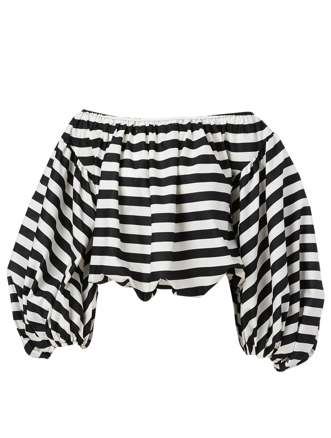 CAROLINE CONSTAS Andros Off-The-Shoulder Top In Striped Print Women's Black