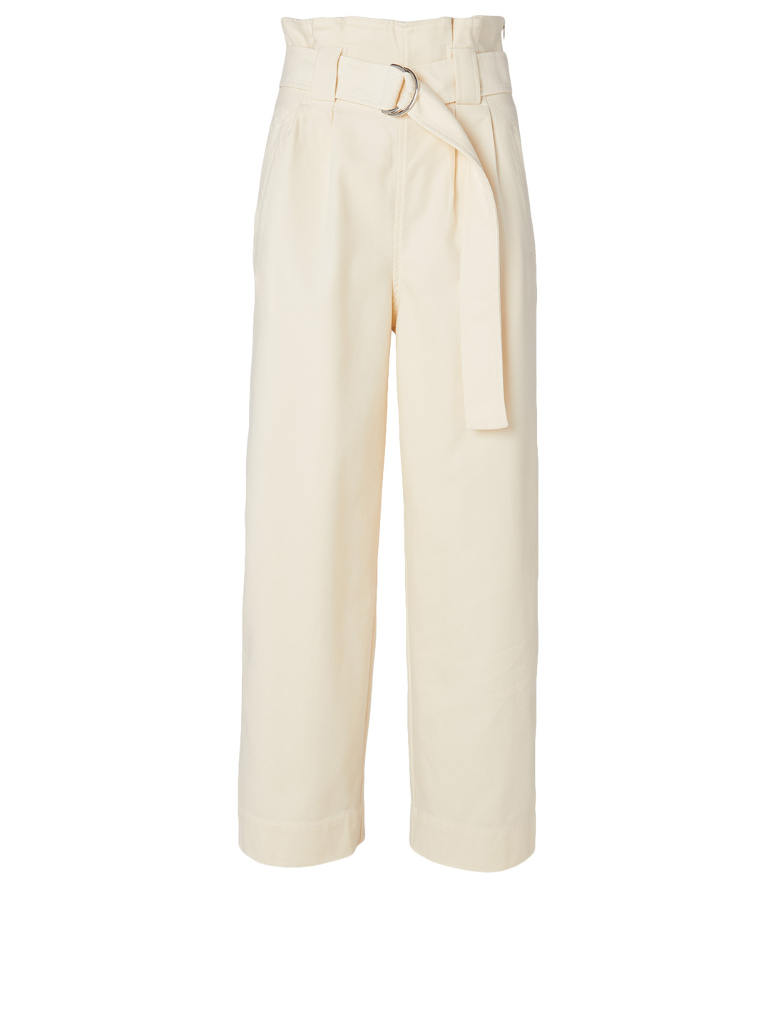 GANNI Chino Pants With Belt Women's White