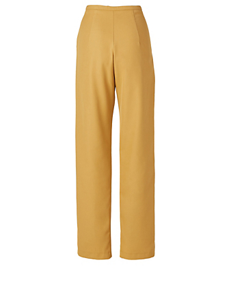 TOTÊME Arles High-Waisted Pants Women's Beige