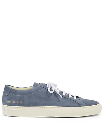COMMON PROJECTS Original Achilles Suede Sneakers Men's Blue