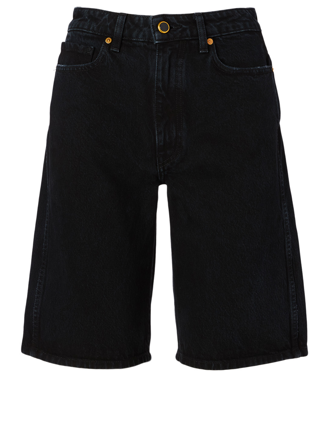 KHAITE Mitch Jean Shorts Women's Black