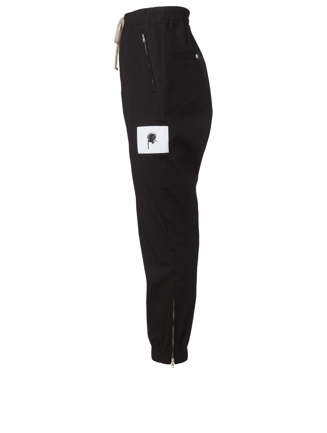 RICK OWENS Skull Cotton Track Pants Men's Black