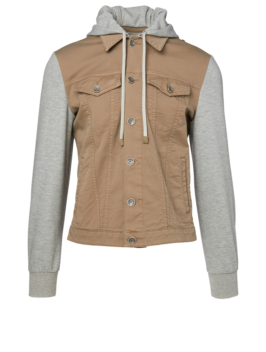ELEVENTY Jersey Denim Jacket Men's Brown