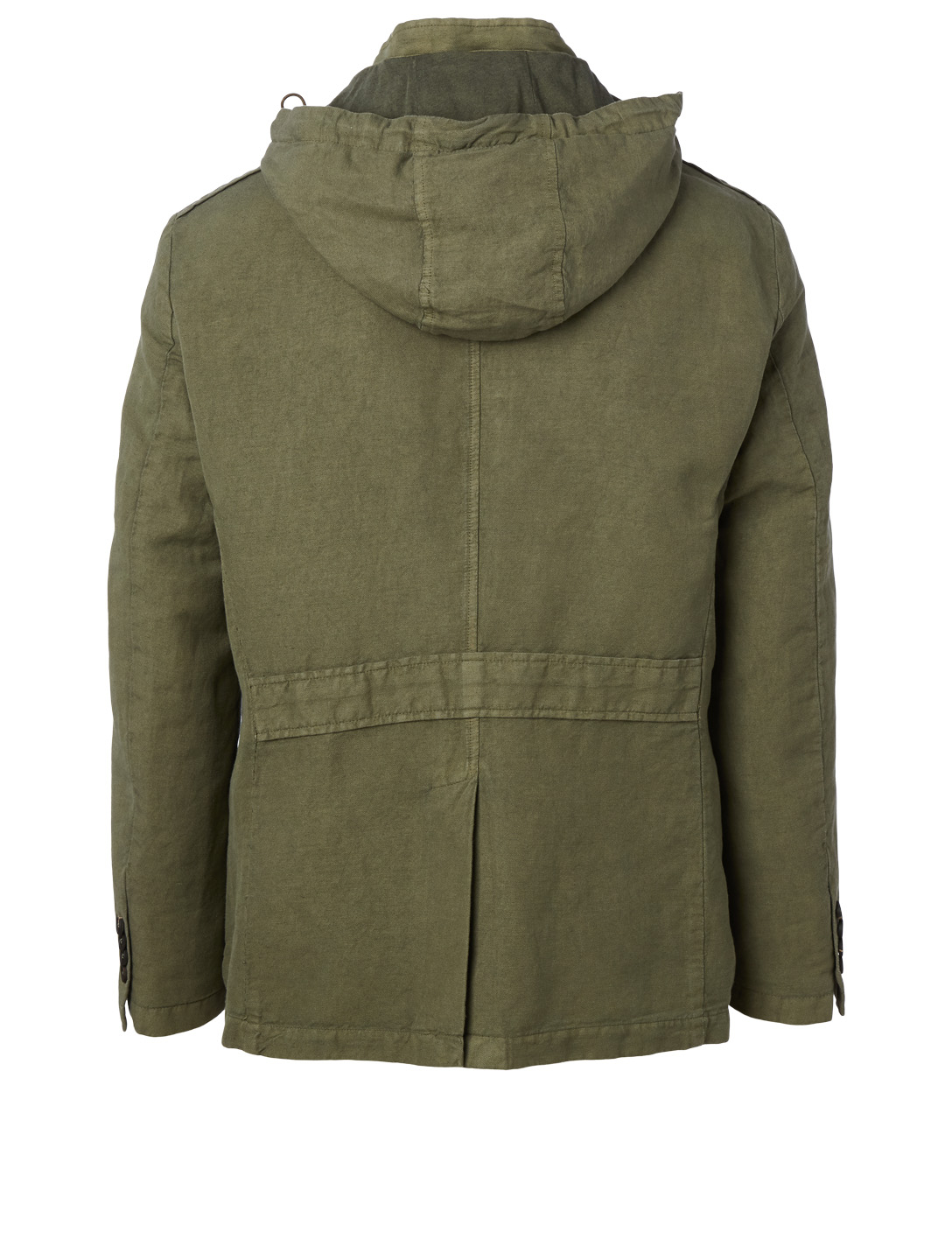 ELEVENTY Linen And Cotton Safari Jacket Men's Green