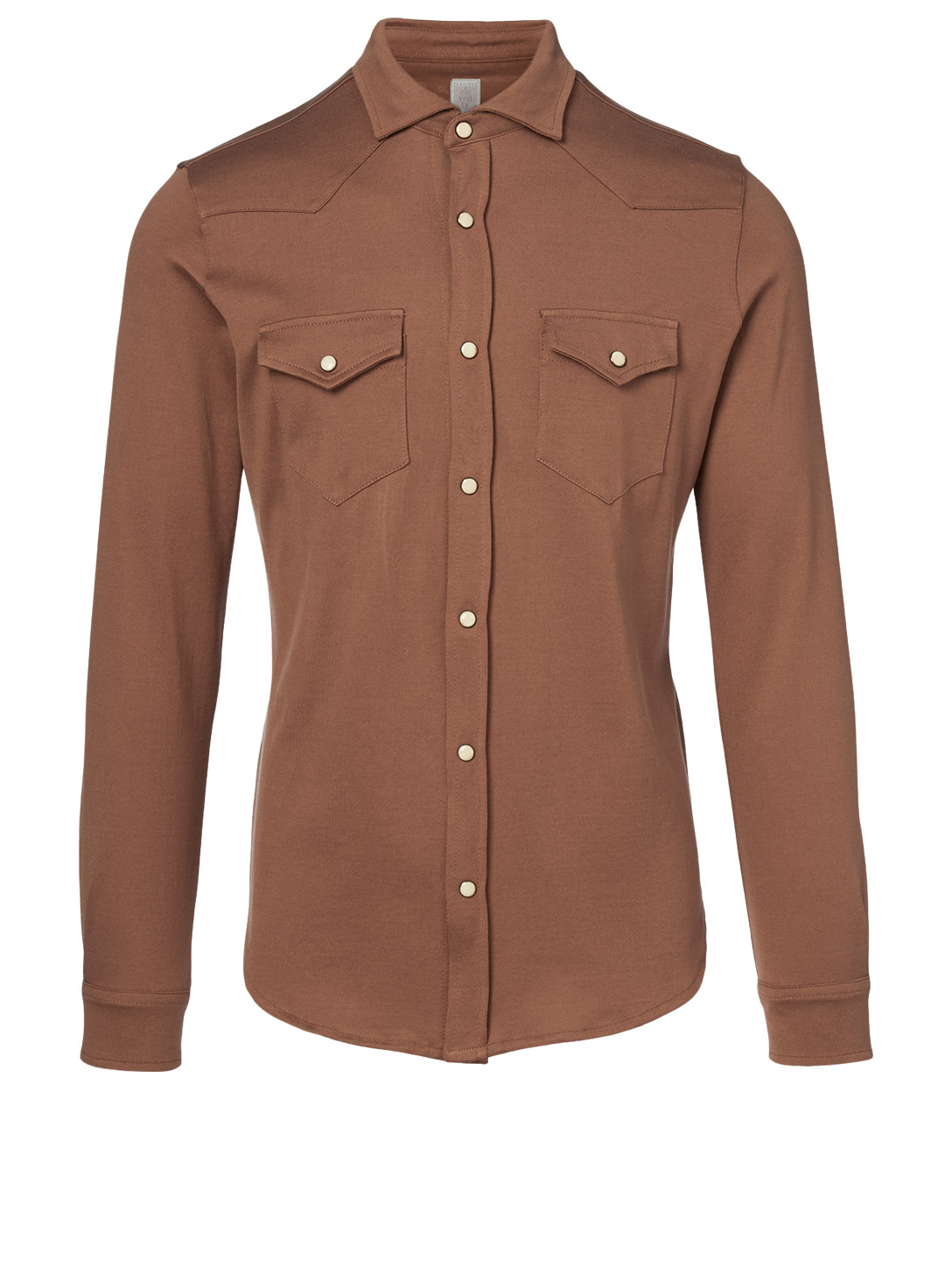 ELEVENTY Cotton Western Shirt Men's Brown